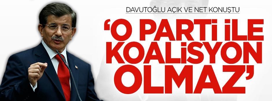 Davutoğlu: HDP ile koalisyon makul değil