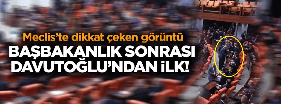 Başbakanlık sonrası Davutoğlu'ndan ilk!