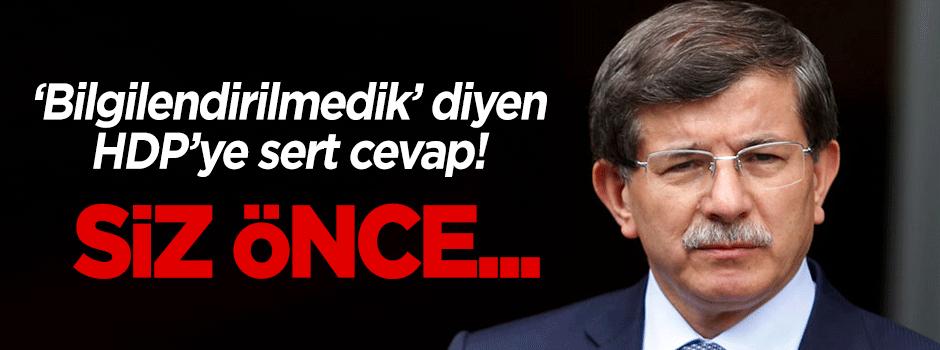 Davutoğlu'ndan HDP'ye sert cevap!
