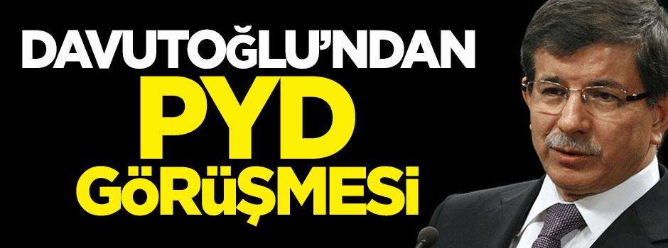 Davutoğlu'ndan PYD görüşmesi