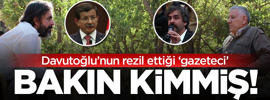 Davutoğlu'nun rezil ettiği PKK yanlısı gazeteci bakın kimmiş!