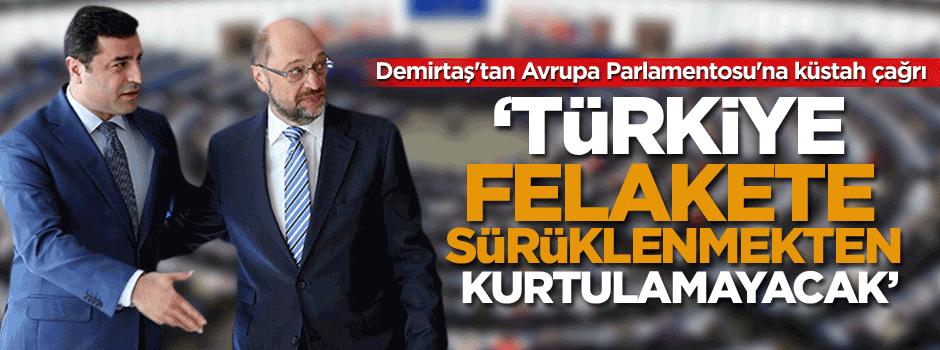 Demirtaş'tan Avrupa Parlamentosu'na küstah çağrı