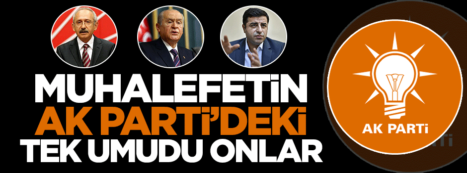 Muhalefetin AK Parti'deki tek umudu onlar