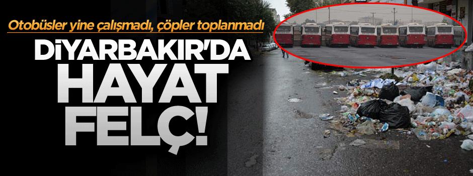 Diyarbakır'da hayat felç! Otobüsler yine çalışmadı, çöpler toplanmadı