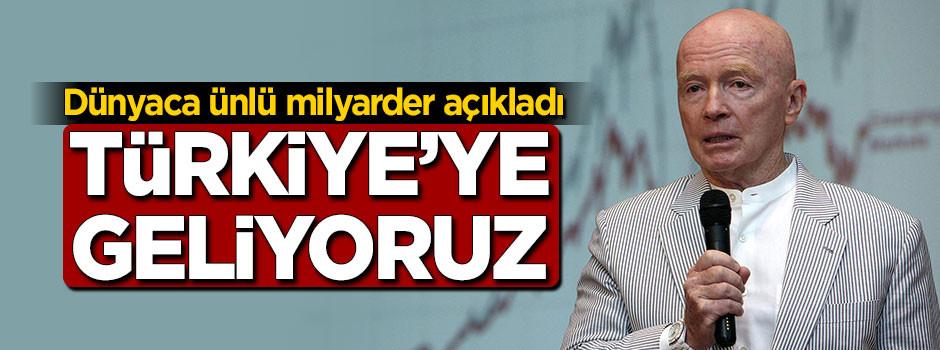 Dünyaca ünlü milyarderden Türkiye açıklaması