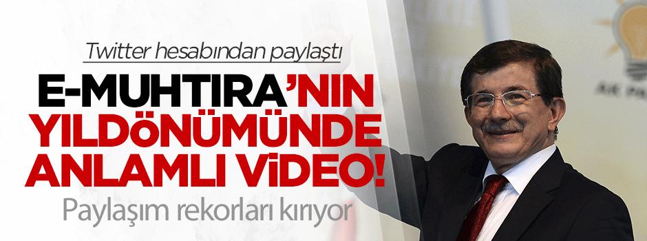 E-Muhtıra'nın yıldönümünde anlamlı video