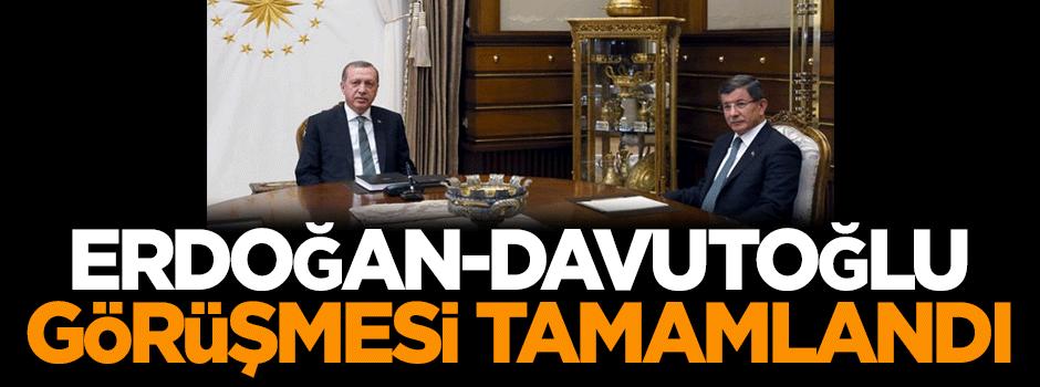 Erdoğan-Davutoğlu görüşmesi tamamlandı