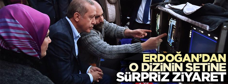 Erdoğan'dan o dizinin setine sürpriz ziyaret!