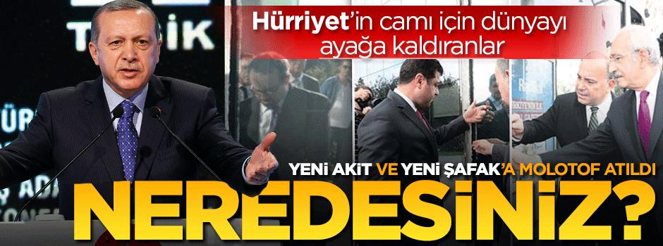 Erdoğan: Hürriyet için yaygara koparanlar nerede?