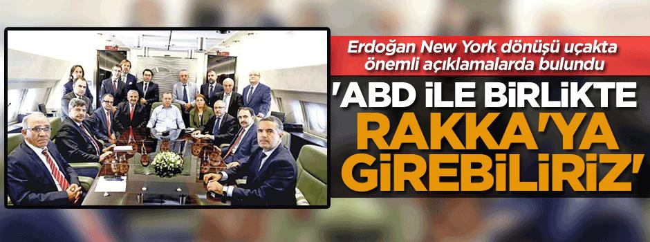 Erdoğan New York dönüşü uçakta önemli açıklamalarda bulundu