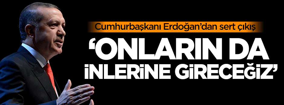 Erdoğan: Onların da inlerine gireceğiz