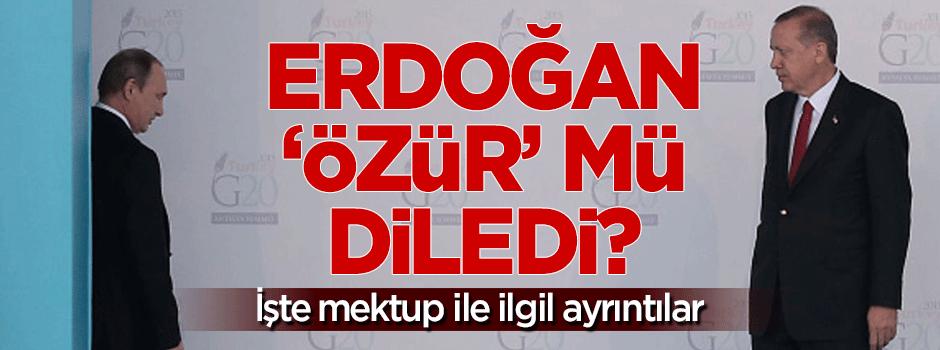 Erdoğan 'özür' mü diledi?