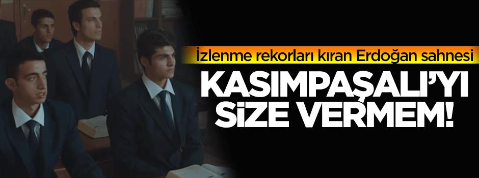 Erdoğan sahnesi izlenme rekorları kırdı!