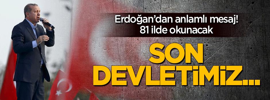 Erdoğan'dan 81 ile anlamlı 29 Ekim mesajı