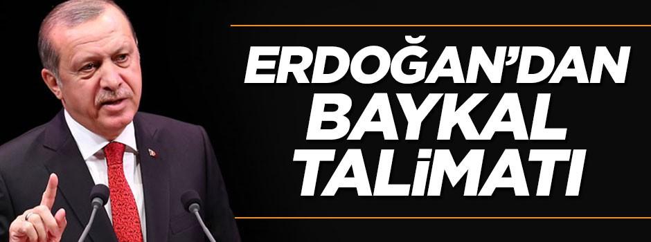 Erdoğan, Baykal için talimat verdi