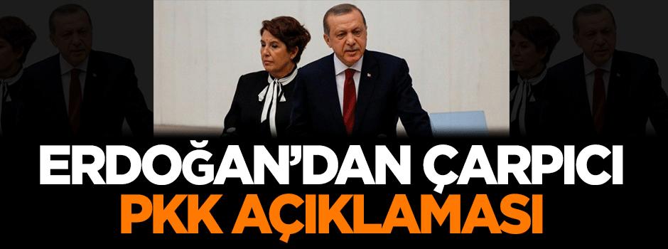 Erdoğan'dan çarpıcı 'PKK' açıklaması