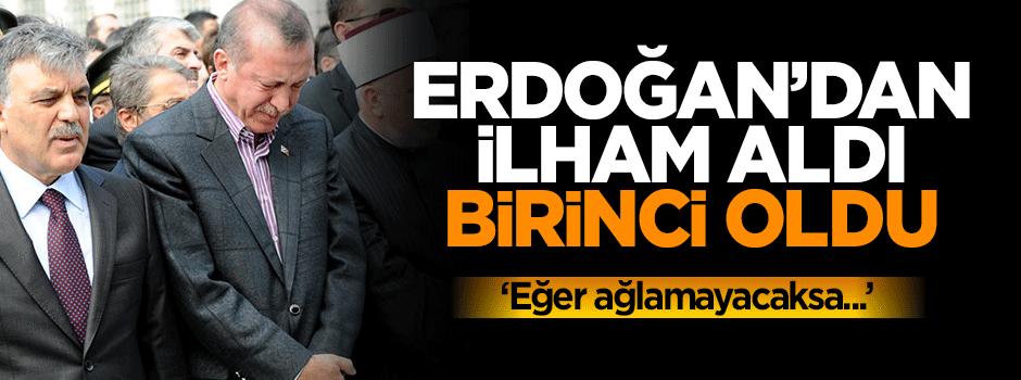Erdoğan'dan ilham aldı, birinci oldu