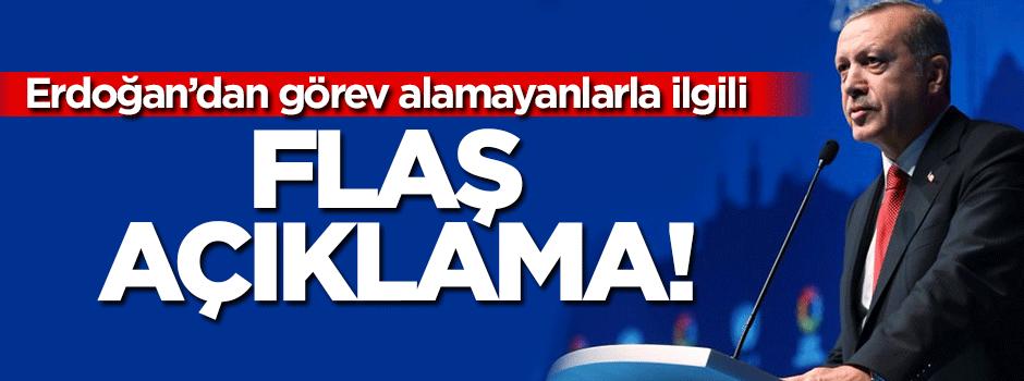 Erdoğan'dan kabineye giremeyenlerle ilgili açıklama
