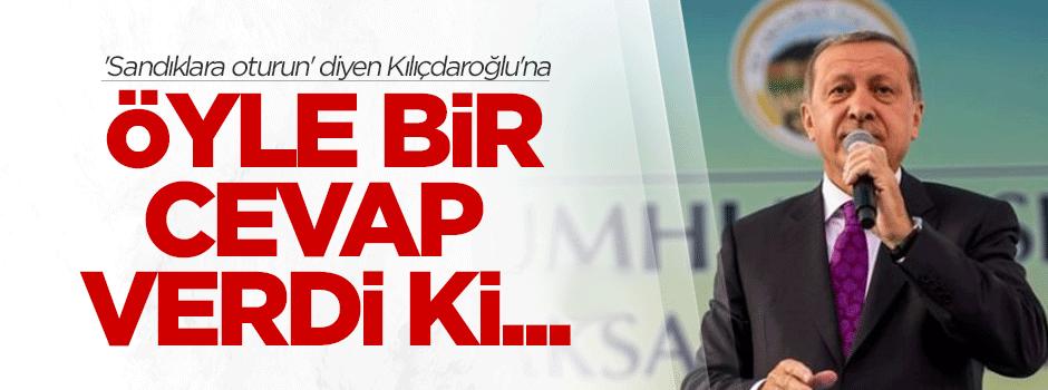 Kılıçdaroğlu'na 'sandığa oturma' cevabı