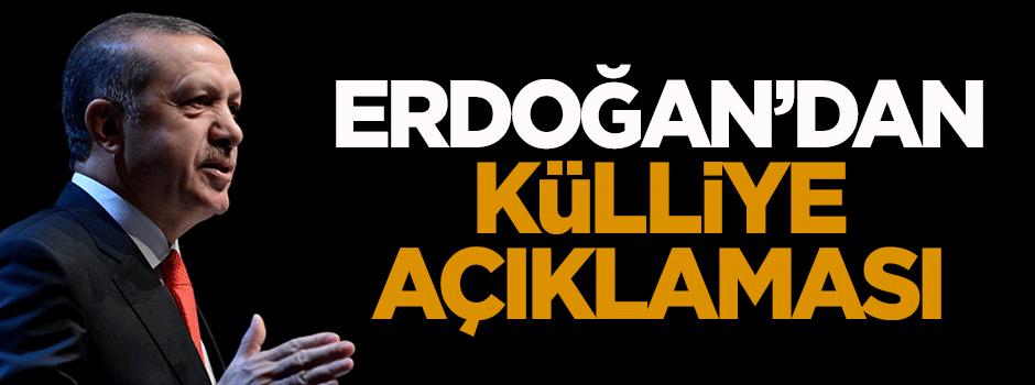 Erdoğan'dan külliye açıklaması