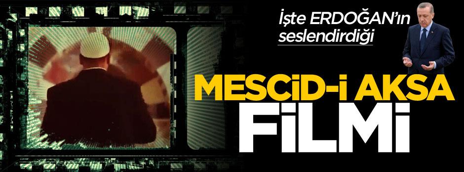 Erdoğan'ın seslendirdiği Mescid-i Aksa filmi duygulandırdı