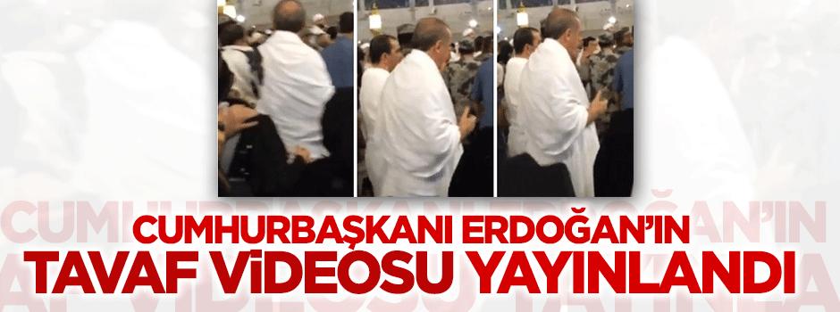 Erdoğan'ın tavaf esnasındaki görüntüleri sosyal medyaya düştü