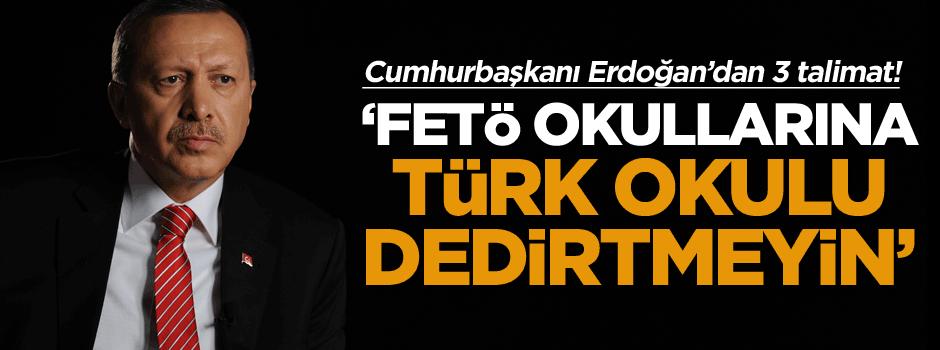 'FETÖ okullarına Türk okulu dedirtmeyin'