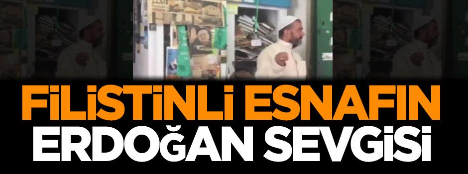 Filistinli esnafın Erdoğan sevgisi