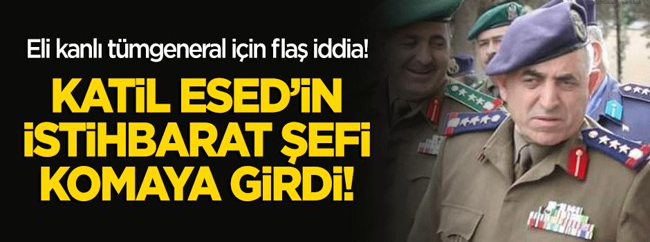 Flaş iddia: Esed'in istihbarat şefi komaya girdi!