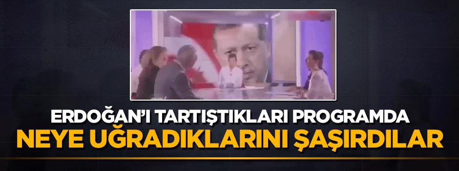 Erdoğan'ı tartıştıkları programda bakın ne oldu