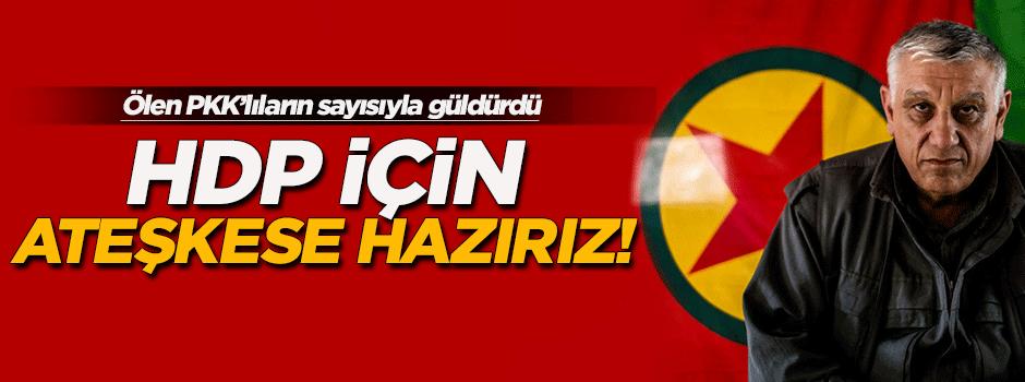 HDP için ateşkese hazırız!