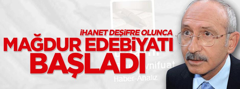 Fuatavni ve CHP'nin ihaneti deşifre olunca mağdur edebiyatı başladı