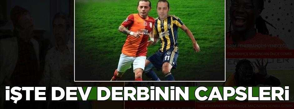 Galatasaray-Fenerbahçe maçı capsleri