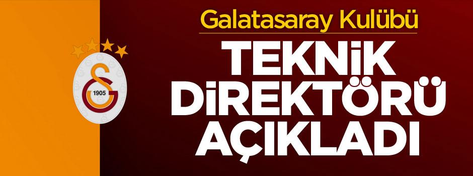 Galatasaray'ın teknik direktörü belli oldu