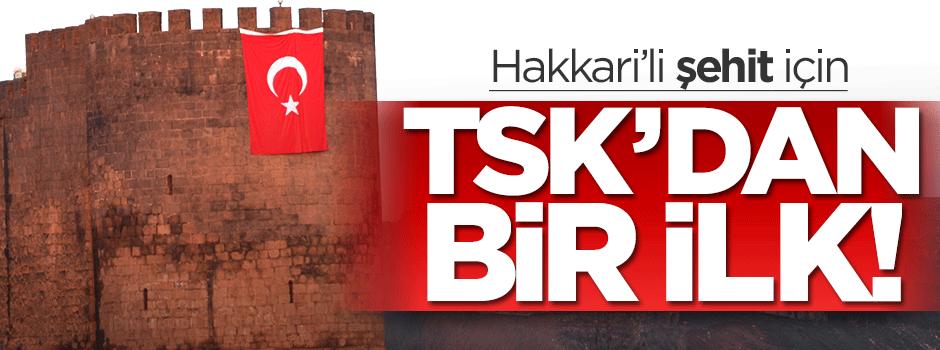 TSK, Hakkari'li şehit için ilk kez yaptı!