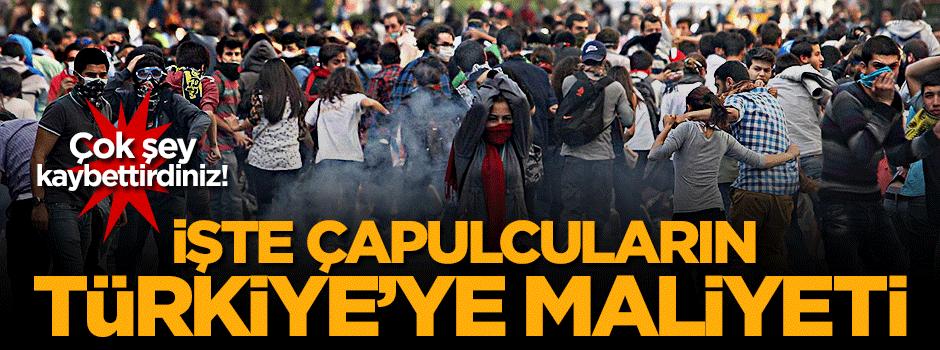 Çapulcuların Türkiye'ye maliyeti ortaya çıktı!