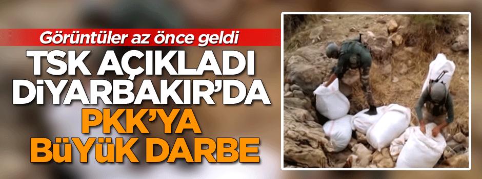 Görüntüler az önce geldi... Diyarbakır'da PKK'ya büyük darbe