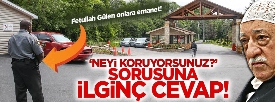 Gülen'in malikanesini bakın kim koruyor?