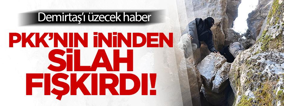 PKK'nın ininden silah ve mühimmat fışkırdı