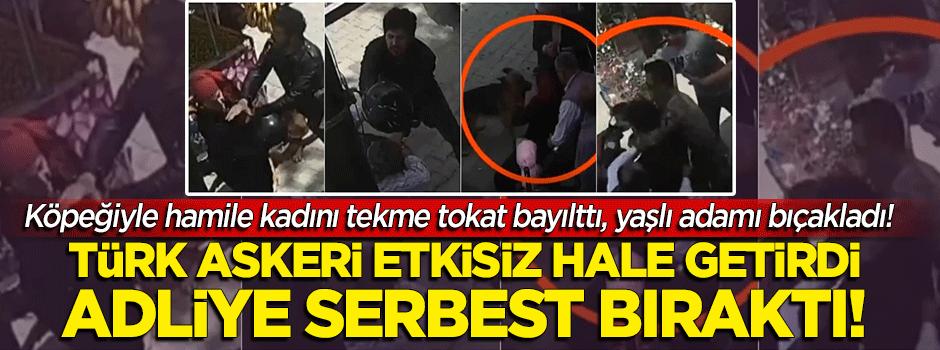 Hamile kadına saldırdı, yaşlı adamı bıçakladı! Köpekli saldırgan serbest bırakıldı