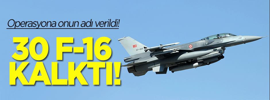 Havalanan 30 F-16 Kandil'i bombaladı!