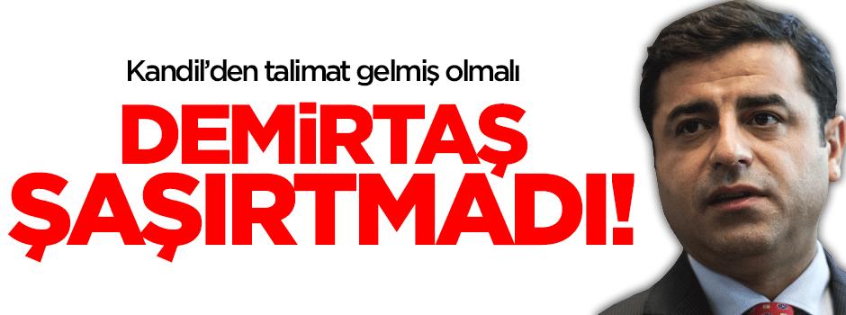 HDP: Demirtaş PKK için 'kirli' demedi