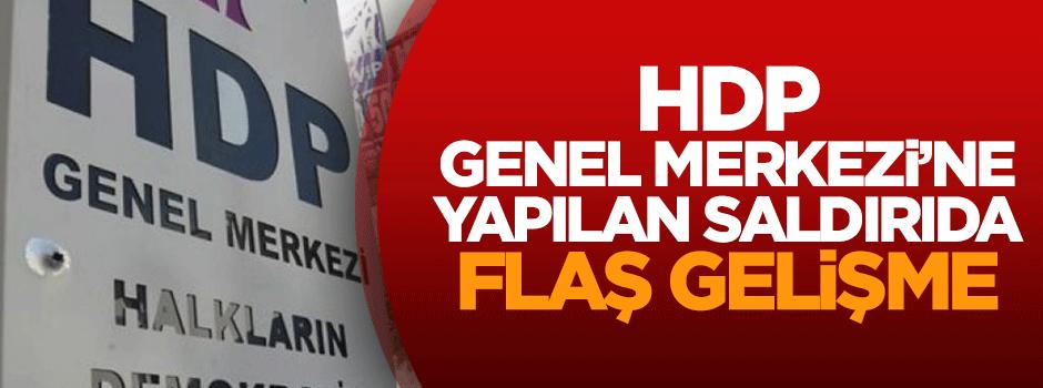 HDP Genel Merkezi'ne yapılan saldırıda flaş gelişme