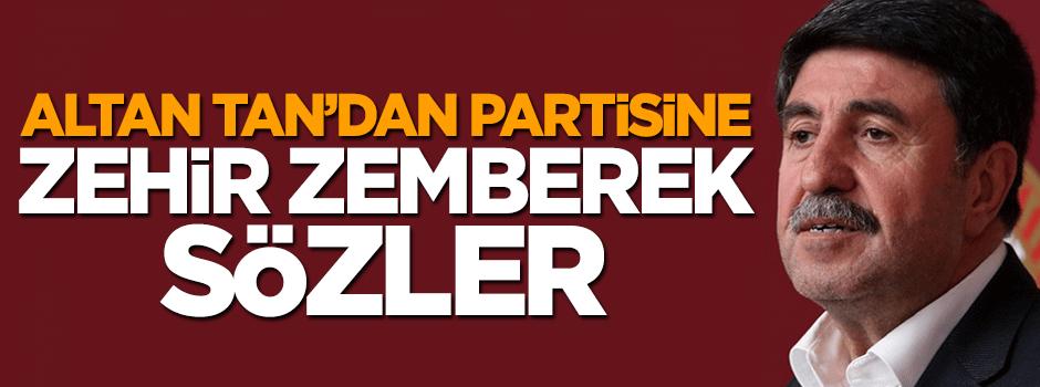 HDP'li Altan Tan partisine zehir zemberek sözler