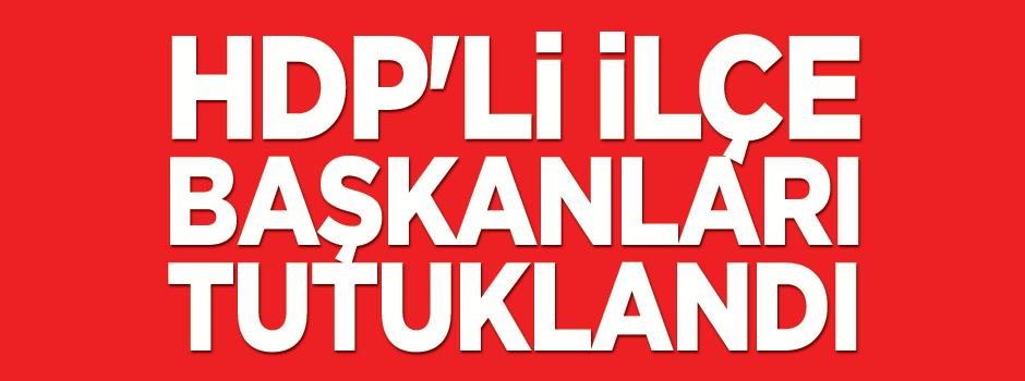 HDP'li İlçe başkanları tutuklandı