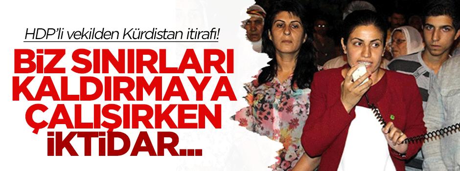 HDP'li vekilden Kürdistan itirafı!