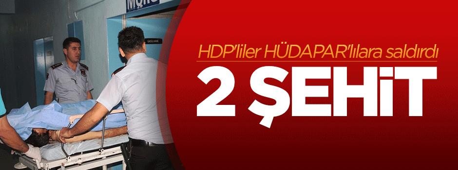 HDP'liler HÜDAPAR'lılara saldırdı: 2 şehit