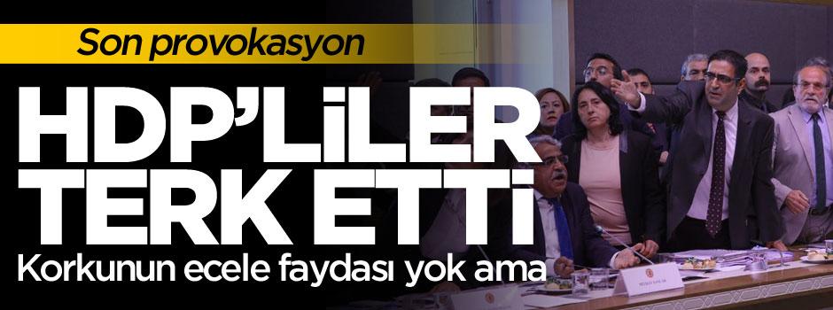 HDP'liler terk etti