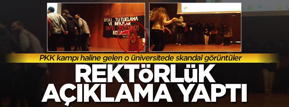 PKK'lı hendekçi yetiştiren üniversiteden açıklama!