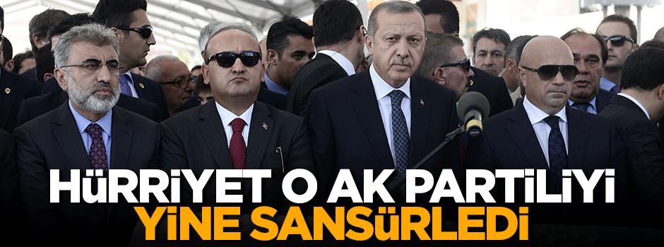 Hürriyet'in sansürlediği AK Partili